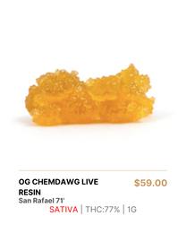 San Rafael 71 | OG Chemdawg Live Resin 1g