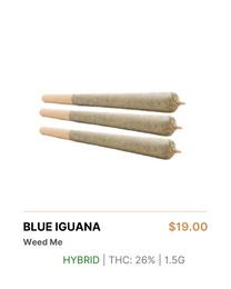 Weed Me Blue Iguana Pre-Rolls
