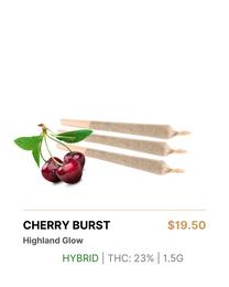 Highland Glow Cherry Burst Pre-Rolls