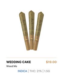 Weed Me Wedding Cake Pre-Rolls