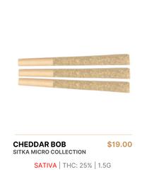 Sitka Micro Collection | Cheddar Bob Pre Rolls 1.5g