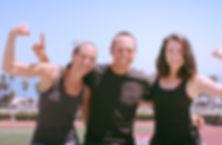 Emily Foley, Kyle Visin, an Addie Clark the co-owners of RiseUp Fitness Santa Barbara