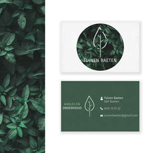 Tuinen Baeten visitekaartje