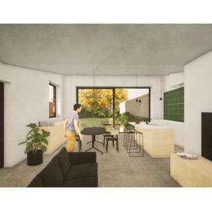 Interieur render nieuwbouw woning