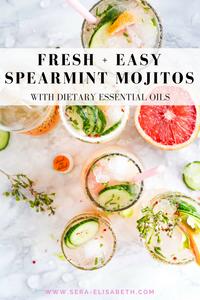 fresh and easy spearmint mojito recipe