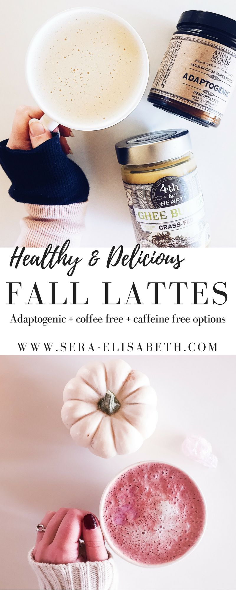 Healthy fall lattes with adaptogens + collagen protein