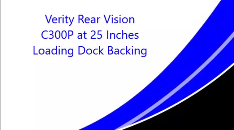 """Verity C300P wide-angle camera at 21"""" high"""