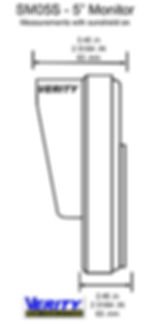 VERITY SM05S monitor side line verityrvs