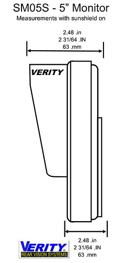 VERITY SM05S monitor side line verityrvs