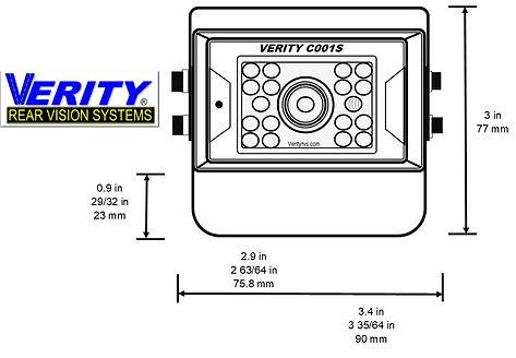 VERITY C001S camera front line verityrvs