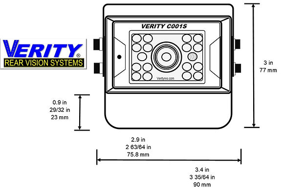 VERITY C001S camera front line verityrvs