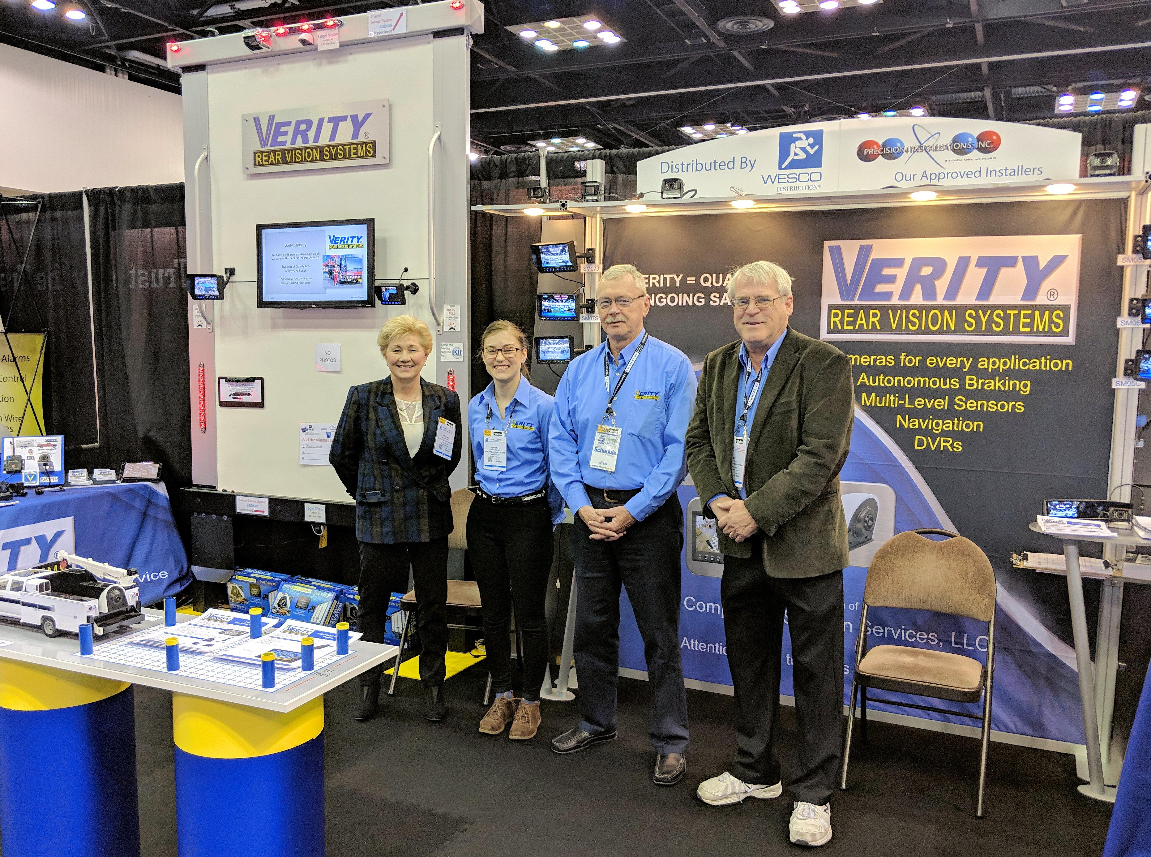 The Verity team at 2019 NTEA's Work Truc