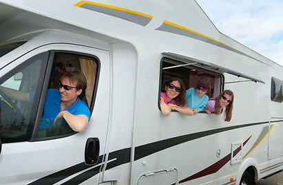 Family vacation, RV (camper) travel with