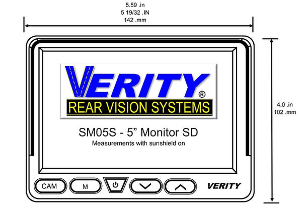 VERITY SM05S monitor front line verityrv