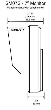 VERITY SM07S monitor side line verityrvs