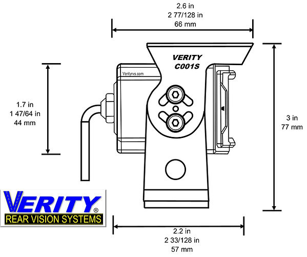 VERITY C001S camera side line verityrvs.