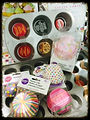 Cupcake trays and fun cupcake liners.