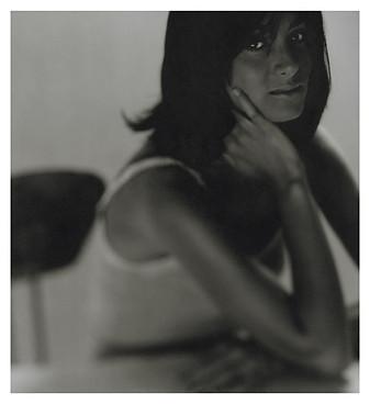 Linda- Polaroid 4x5 N&B