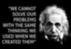Einstein...cannot solve problems the way
