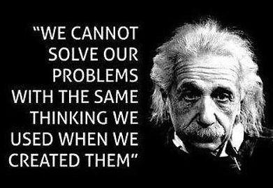 Einstein...cannot solve problems the way
