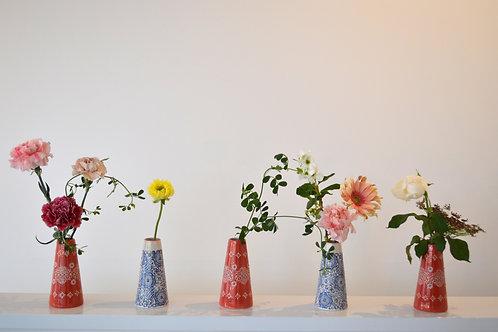 うつわとお花のセット ブルー