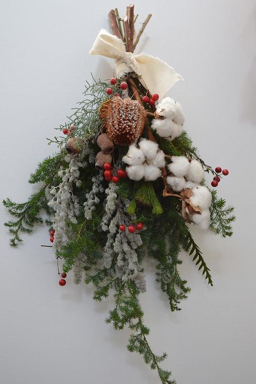 クリスマススワッグ(ホワイトコットン)