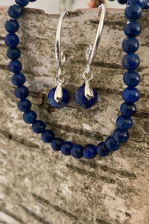 Oorbellen Lapis Lazuli (per paar)