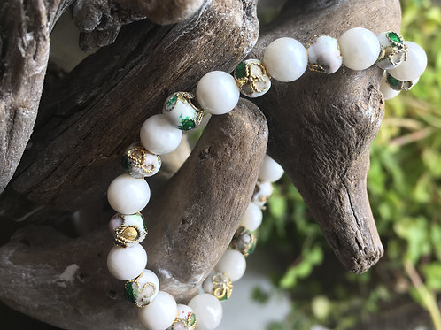 Armband Witte agaat