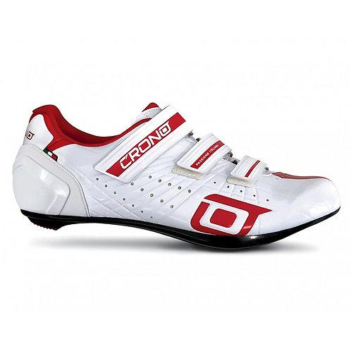 Crono Cr4 Országúti Kerékpáros Cipő Kompozit Talppal Fehér-piros