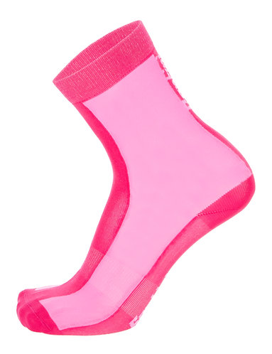 Santini LUCE - SOCKS ROSE PINK - Kerékpáros közép profilú zokni