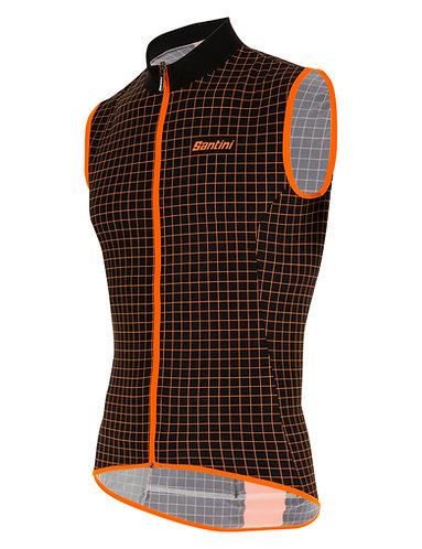 Santini Nebula vest - Kerékpáros mellény fekete-narancs