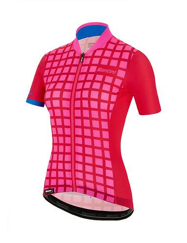 Santini SLEEK GRIDO - Női kerékpáros mez pink