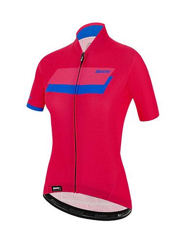 Santini KARMA SASSI - JERSEY - Női kerékpáros mez pink