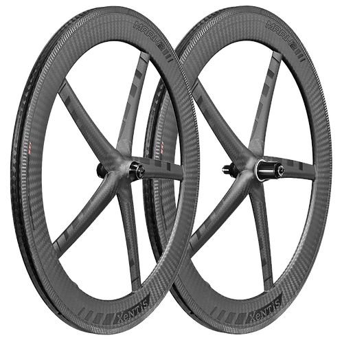 Xentis Mark3 matt Black tria monocoque rim brake wheel-set - Kerékszett