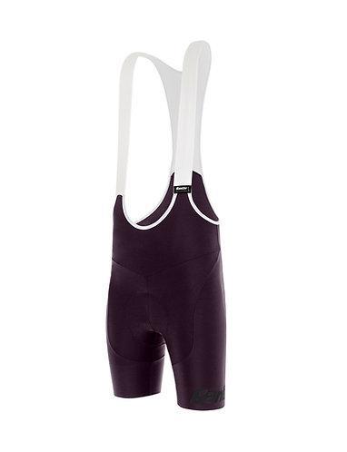 Santini TONO PURO - Női kerékpáros kantáros nadrág.bordó