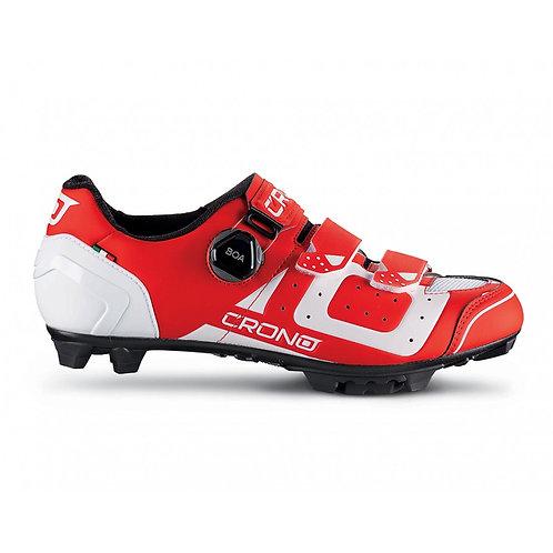 Crono Cx3 Mountainbike Kerékpáros Cipő Piros-fehér