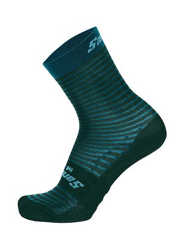 Santini MILLE TEAL - Kerékpáros közép profilú zokni