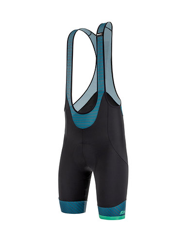 Santini KARMA MILLE - Kerékpáros kantáros nadrág fekete
