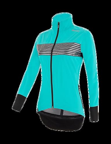 Santini GUARD MERCURIO - JACKET AQUA for women - Kerékpáros Női Téli kabát