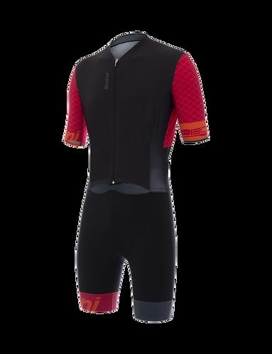 Santini REDUX - S/S TRISUIT RED - Tri ruha