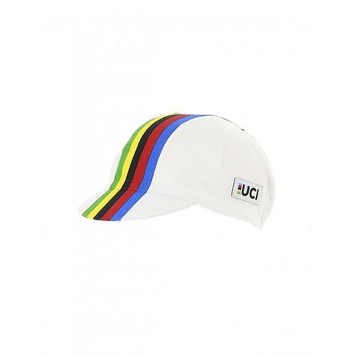 Santini UCI IRIDE Cycling cap white - UCI Kerékpár sapka fehér