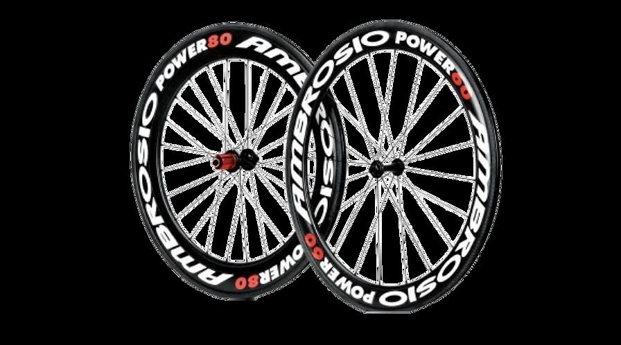 AMBROSIO POWER 60 80 ALU/CARBON Clincher/belsős wheelset/Kerékszett