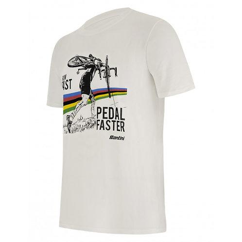 SANTINI UCI CYCLOCROSS - T-SHIRT White - Póló