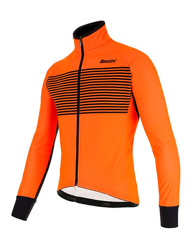 Santini colore jacket - Kerékpáros téli kabát narancs