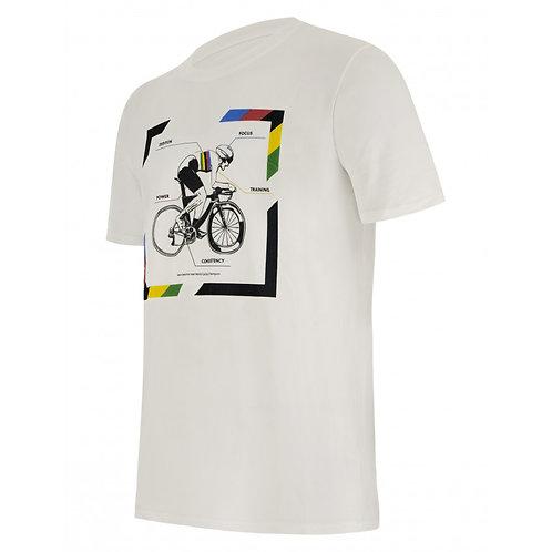 SANTINI UCI Road Racing World Championships T-SHIRT White - Póló