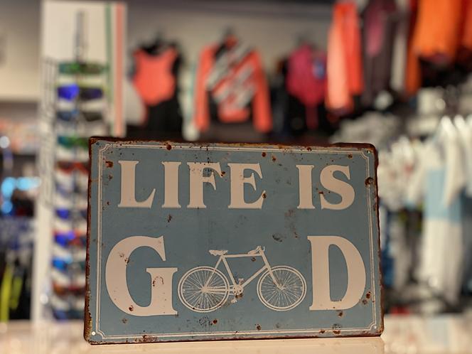 "Retro dekor fémtábla, ""Life is good"""