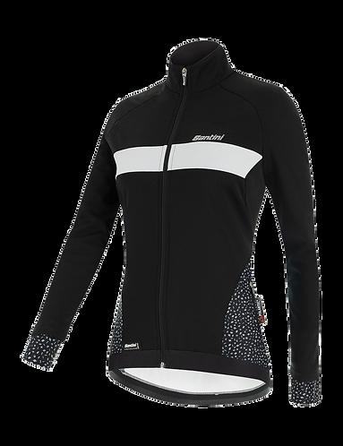 Santini CORAL - JACKET BLACK for women - Kerékpáros Női Téli kabát