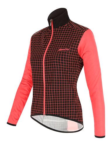 Santini NEBULA jacket Women - Női Kerékpáros kabát fekete