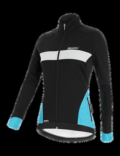Santini CORAL - JACKET AQUA for women - Kerékpáros Női Téli kabát
