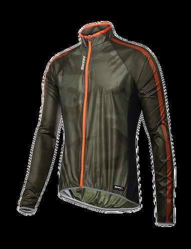 Santini Fine Windbreaker Jacket Green - Szélálló kerékpáros kabát